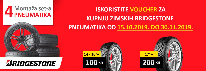 Voucher za kupnju zimskih Bridgestone pneumatika
