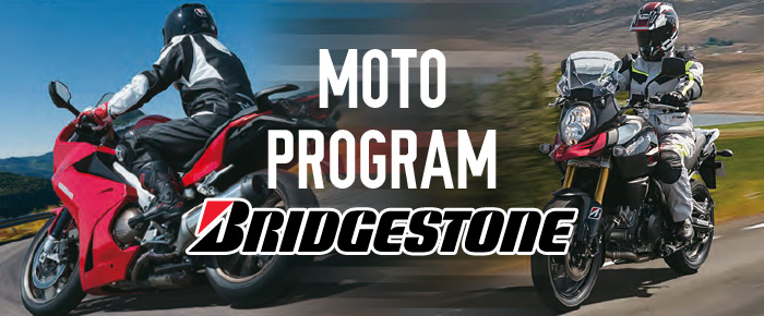 Bridgestone gume za motocikle - MOTO program