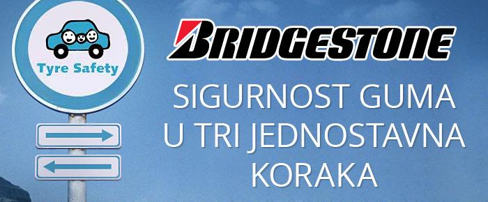 Bridgestone Tyre Safety - sigurnost guma u tri jednostavna koraka