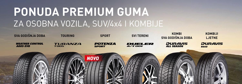 Ponuda premium guma za osobna vozila, SUV/4x4 i kombije