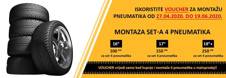 Iskoristite VOUCHER za montažu pneumatika od 27.04.2020. do 19.06.2020.