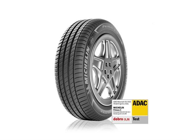 Pneumatik MICHELIN Primacy 3 je pobjednik ADAC-ovog testa ljetnih pneumatika za 2015.
