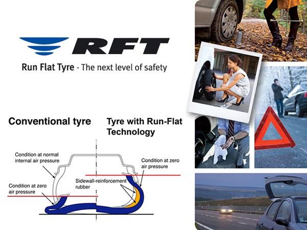 Tehnologija Run Flat za slučaj iznenadnog gubitka tlaka u gumi